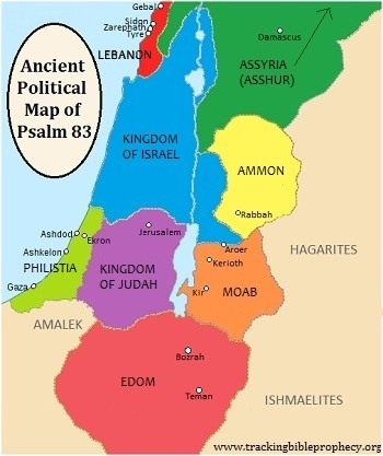 Ancient Political Map of Psalm 83