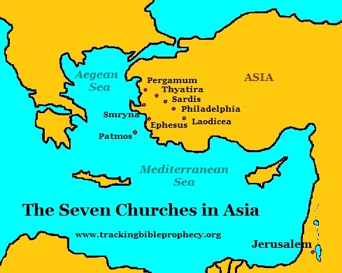 The seven churches in Asia
