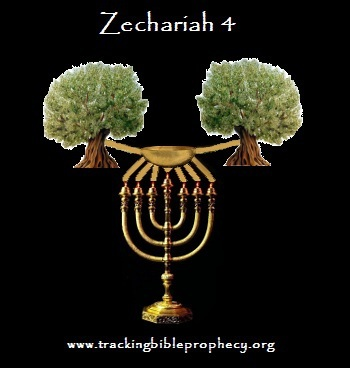 Zechariah 4 olive trees bowl golden lampstand
